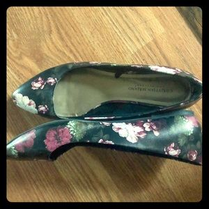 Christian Siriano Floral Flats